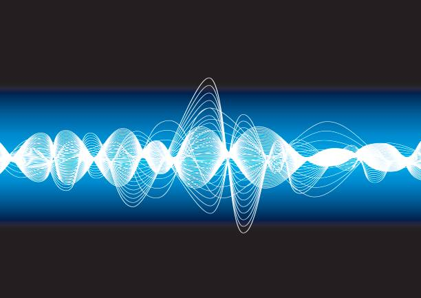 oscillation - sine wave stock illustrations