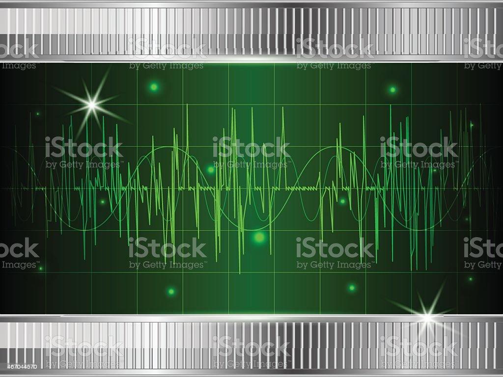 Oscilloscope background vector art illustration