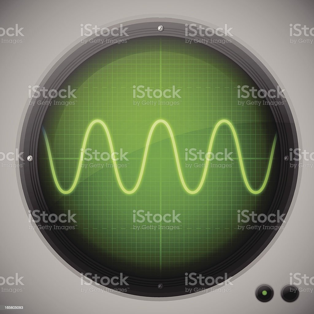 Oscilloscope vector art illustration