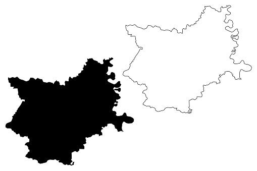 Osijek-Baranja County map
