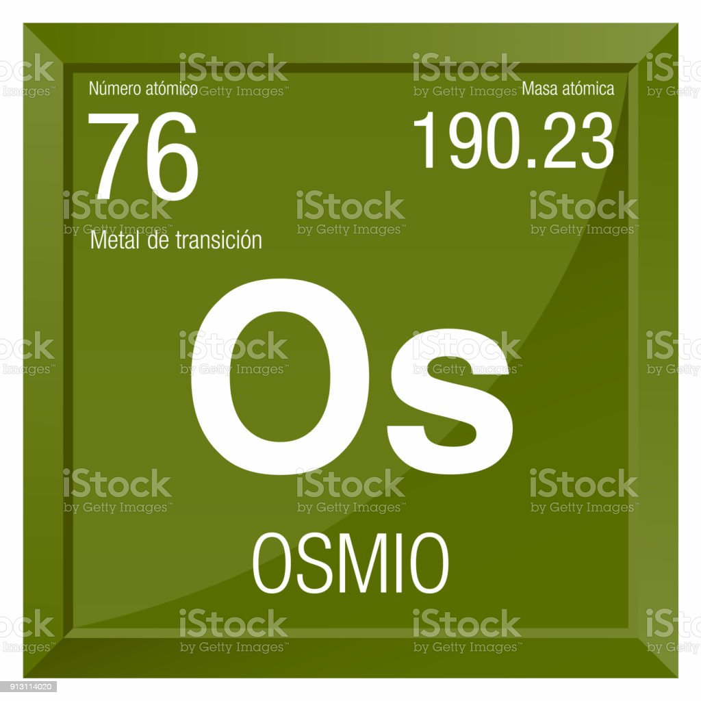 Osmio symbol osmium in spanish language element number 76 of the osmio symbol osmium in spanish language element number 76 of the periodic table of urtaz Choice Image