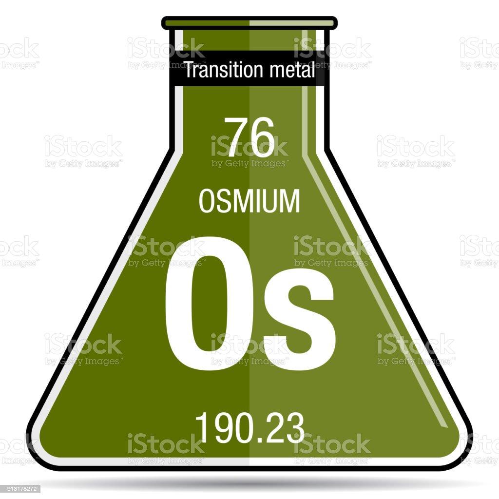 Osmium symbol on chemical flask element number 76 of the periodic osmium symbol on chemical flask element number 76 of the periodic table of the elements urtaz Choice Image