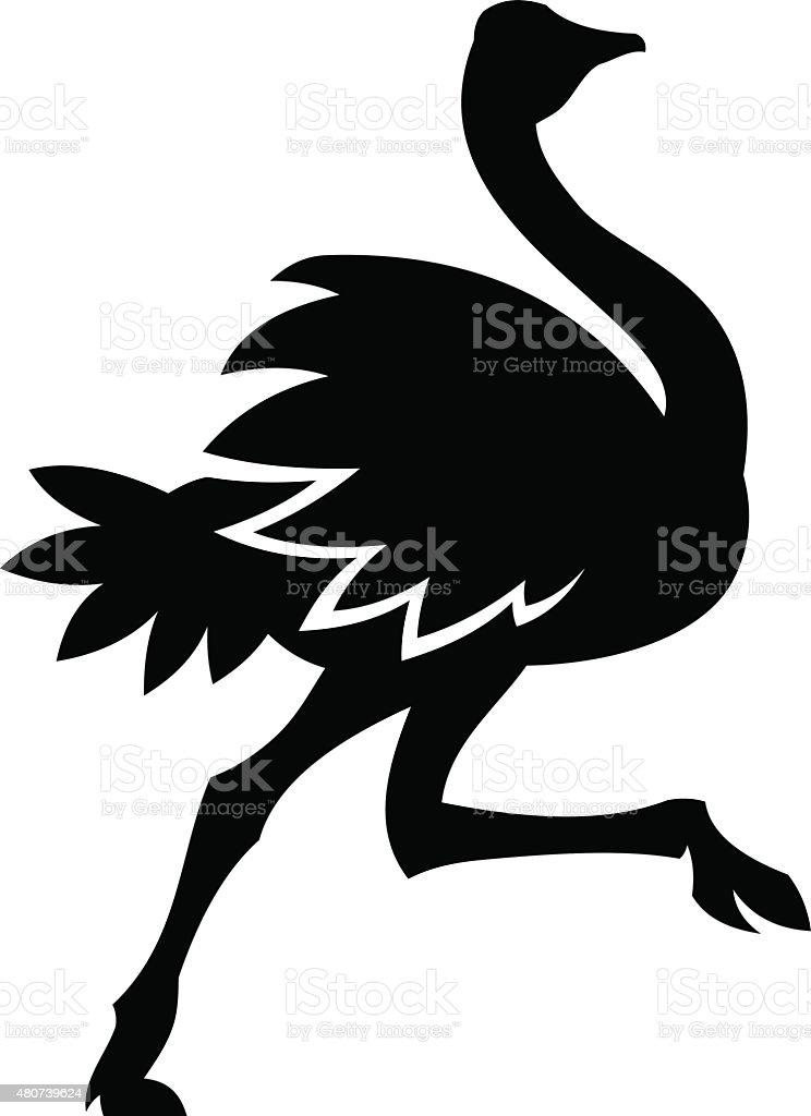 Avestruz - ilustração de arte em vetor