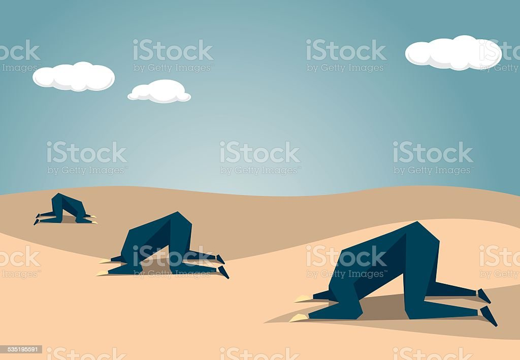 Ostrich vector art illustration