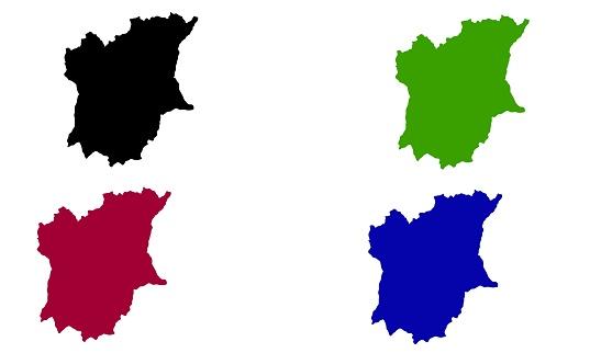 Osun city map silhouette in Nigeria