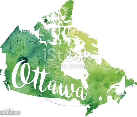 Ottawa canada vector watercolor map stock vector art more images ottawa canada vector watercolor map stock vector art more images of calligraphy 623121434 istock gumiabroncs Gallery