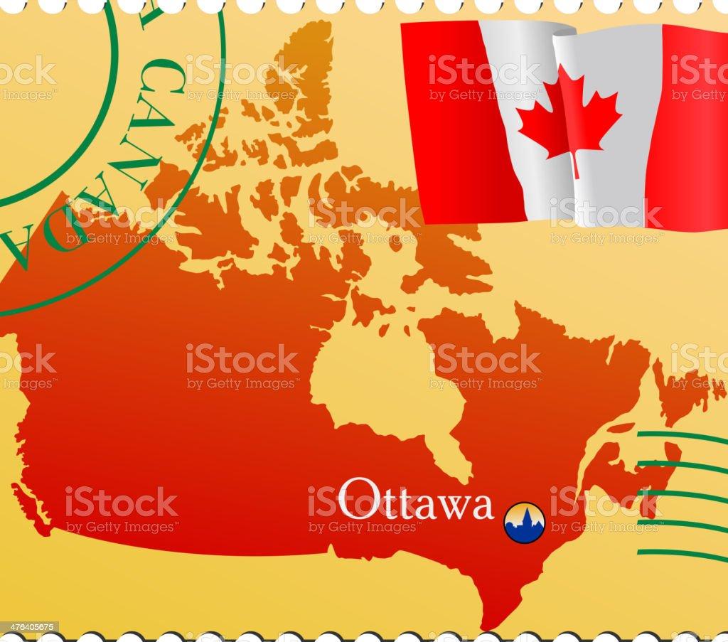 Ottawahauptstadt Von Kanada Vektor Illustration 476405675   iStock
