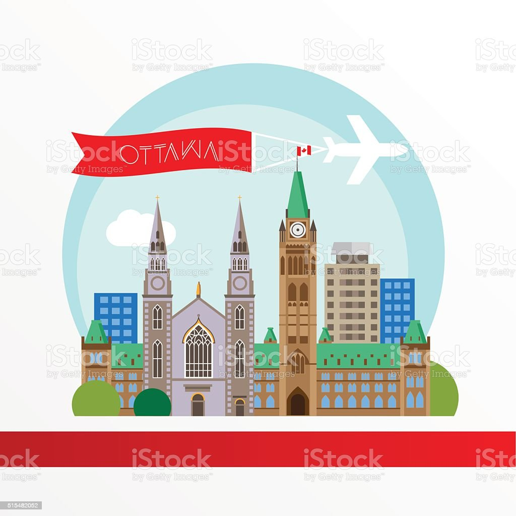 Ottawa detailed silhouette. Trendy vector illustration, flat style vector art illustration