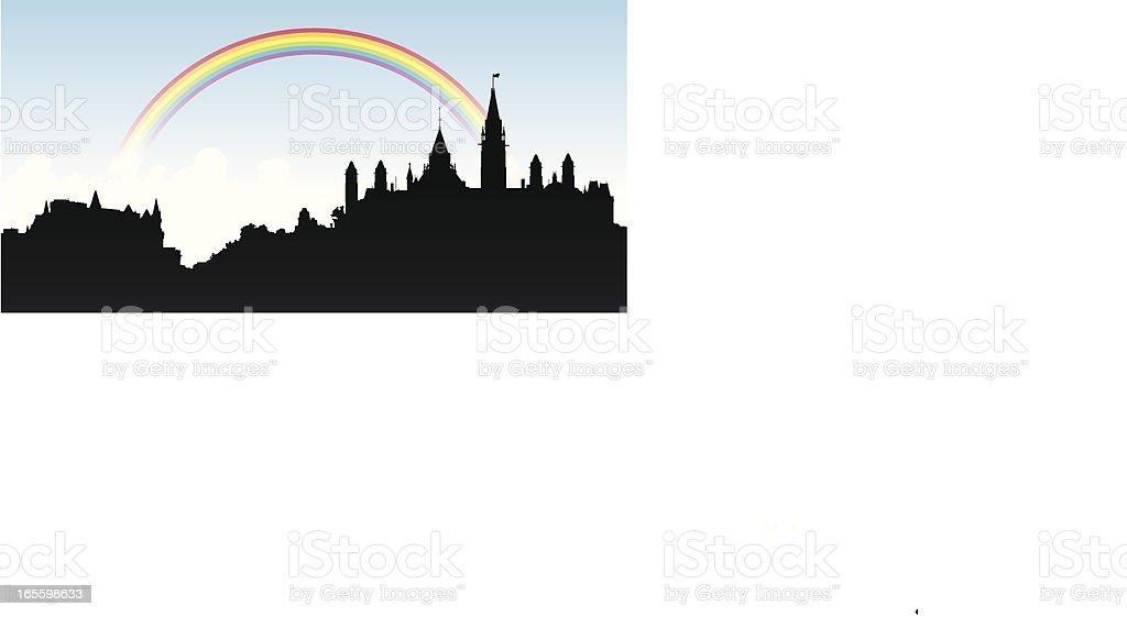 Ottawa Rainbow vector art illustration