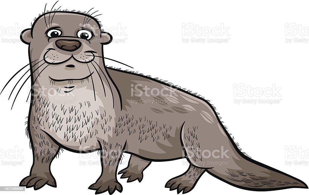 Ilustración de Nutria Ilustración Dibujo Animado De Animal y más ...