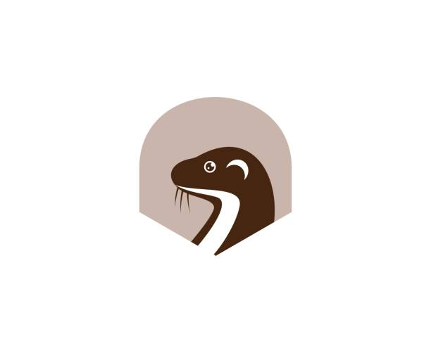 otter icon - otter stock illustrations, clip art, cartoons, & icons