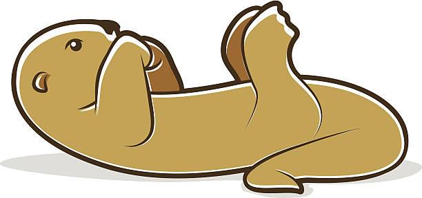 Otter vector art illustration