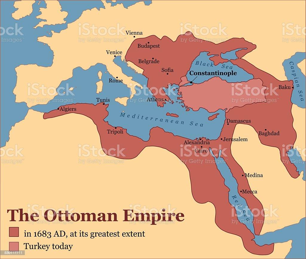 Império Otomano Turquia - ilustração de arte em vetor