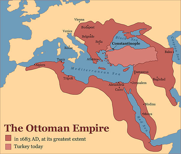ilustrações, clipart, desenhos animados e ícones de império otomano turquia - mapa do oriente médio