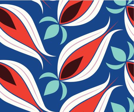 Ottoman Tulips Seamless Pattern