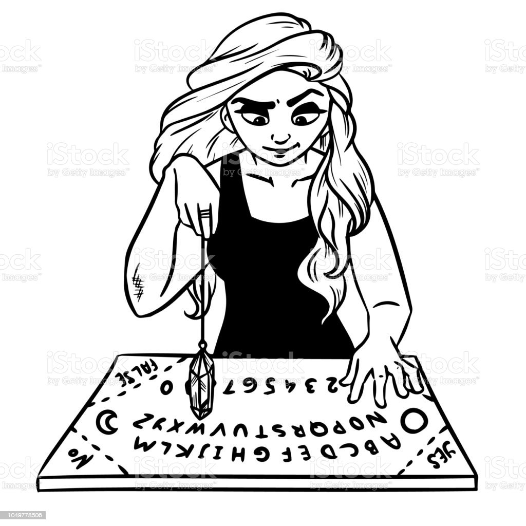 Ouija Board And Pendulum Witch Divination Stock Illustration