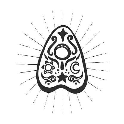 Ouija pointer isolated on white background.