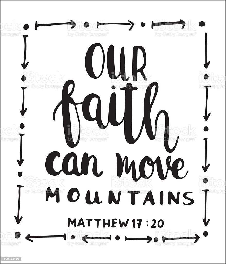 our faith can move mountains vector art illustration