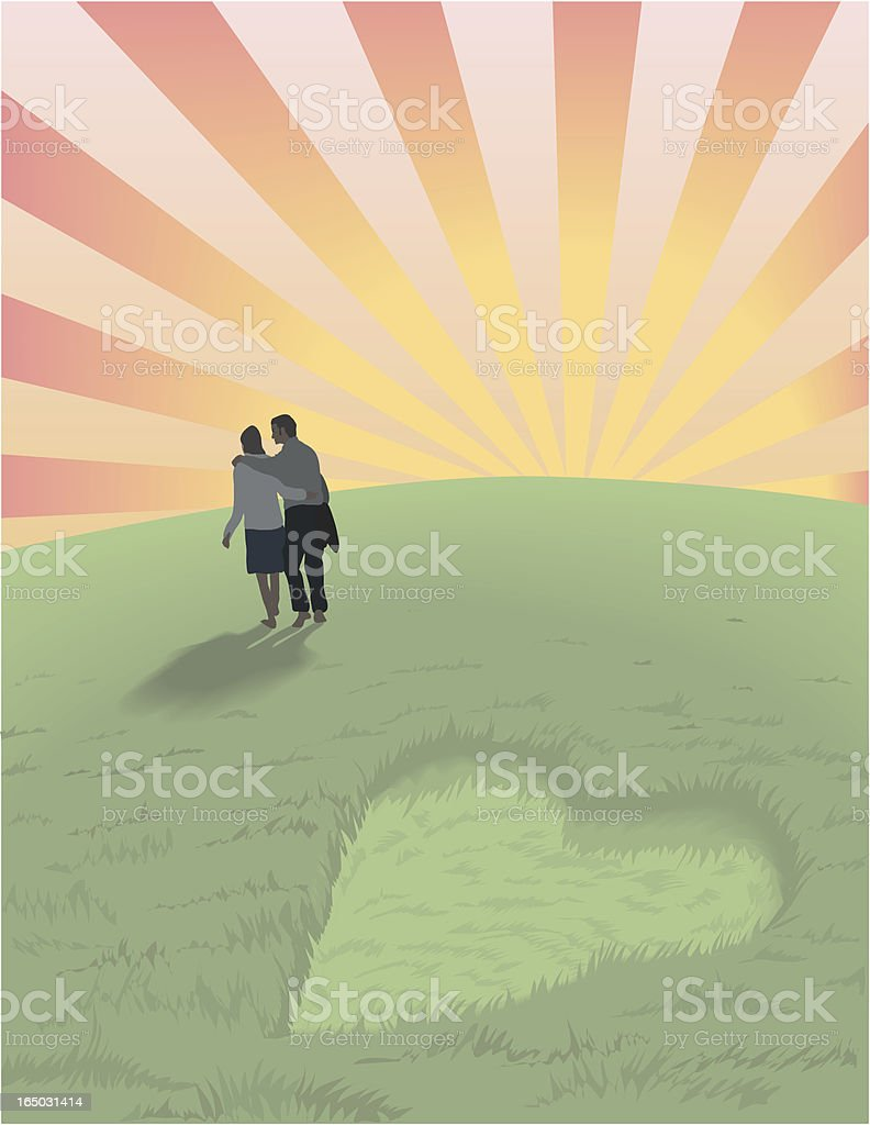 Our future is bright! - vector vector art illustration
