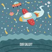 Our Galaxy Conceptual Vector Web Banner