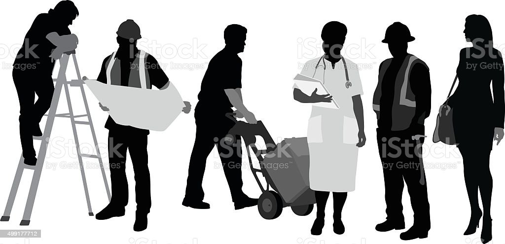 Our Job vector art illustration
