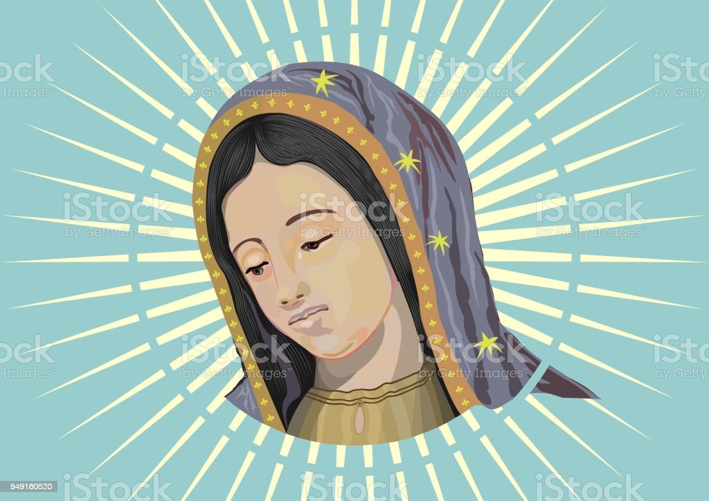 Our Lady of Guadalupe vector art illustration