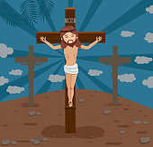 istock Our Lord Jesus Christ Dies on the Cross 1218110589