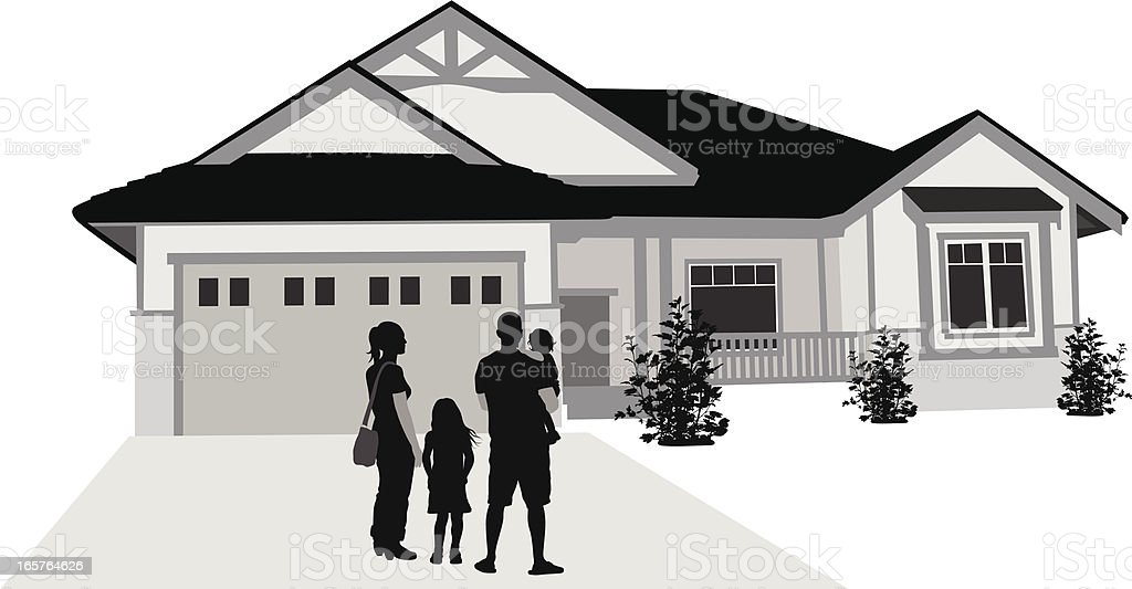 Our New Home Vector Silhouette vector art illustration