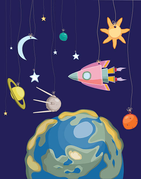 Best Solar System Mobile Illustrations, Royalty-Free Vector