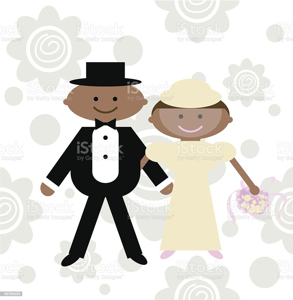 Our Wedding Day vector art illustration