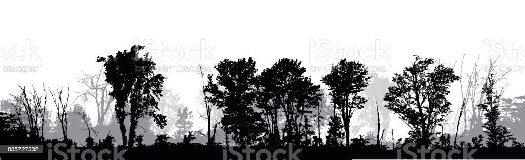 royalty free treeline silhouette clip art  vector images