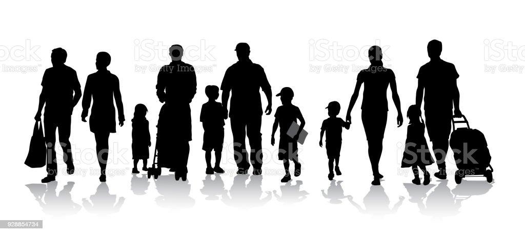 Für einen Spaziergang-Masse – Vektorgrafik