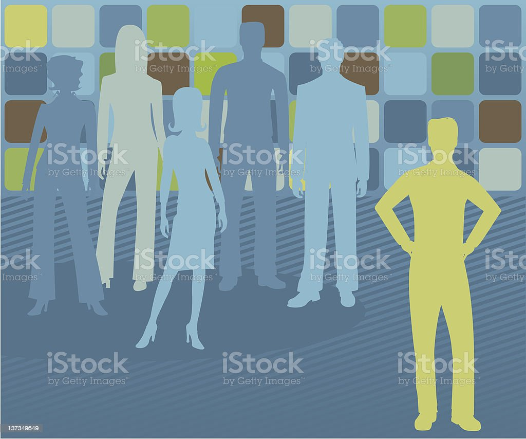 Out Front - Male royalty-free out front male stock vector art & more images of above