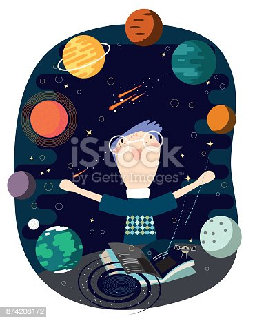 istock Out of books - solar system 874208172