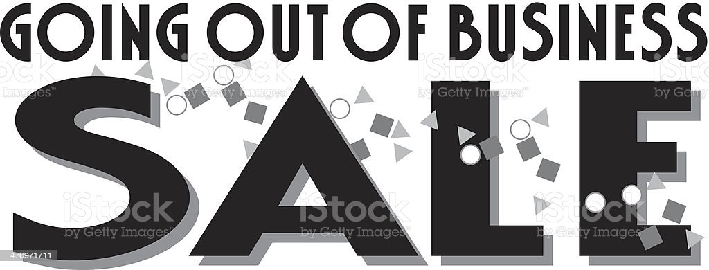 Out Of Business Heading3 vector art illustration