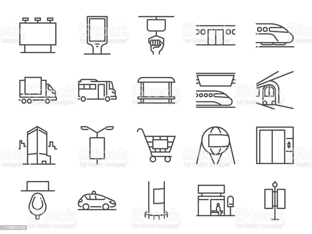 Aus home-Media-Linie-Icon-Set. Enthalten Symbole wie werben, Außenwerbung, marketing, Outdoor-Medien und mehr. - Lizenzfrei Augapfel Vektorgrafik