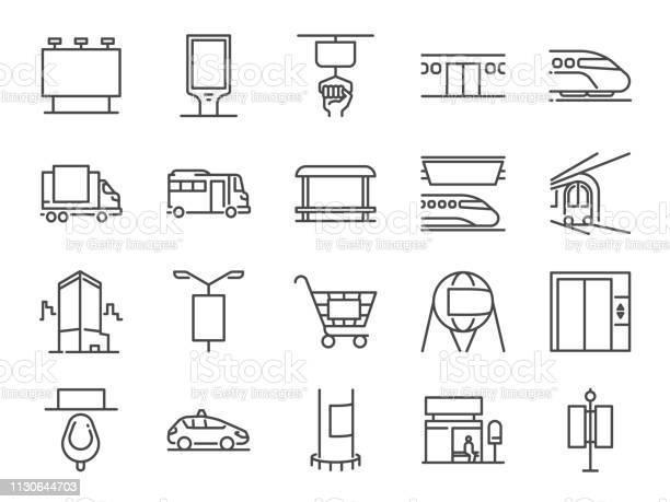 Aus Homemedialinieiconset Enthalten Symbole Wie Werben Außenwerbung Marketing Outdoormedien Und Mehr Stock Vektor Art und mehr Bilder von Augapfel