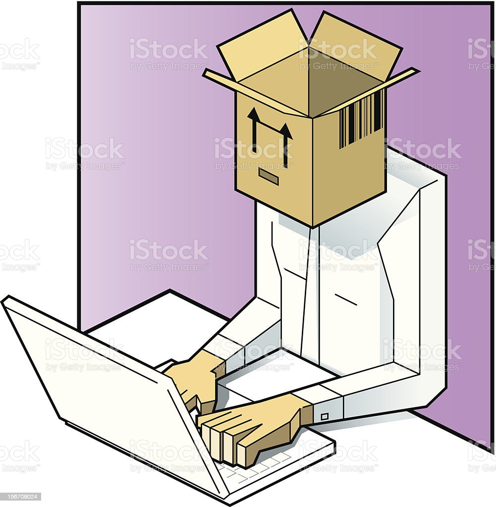 Out of the Box vector art illustration