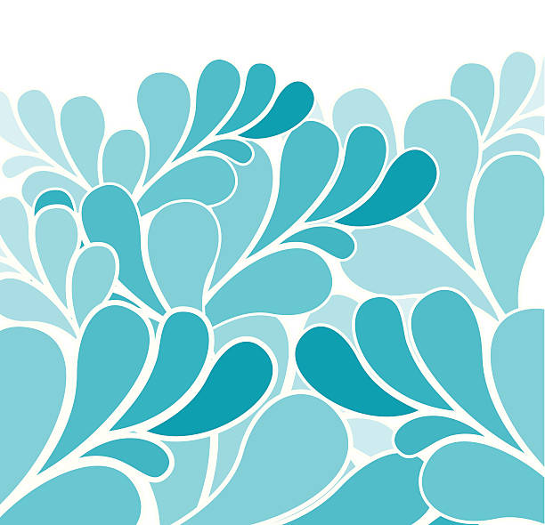 Out to sea Waves background in different shades of blue natural pattern stock illustrations