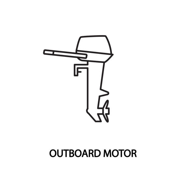 Best Outboard Engine Illustrations, Royalty-Free Vector