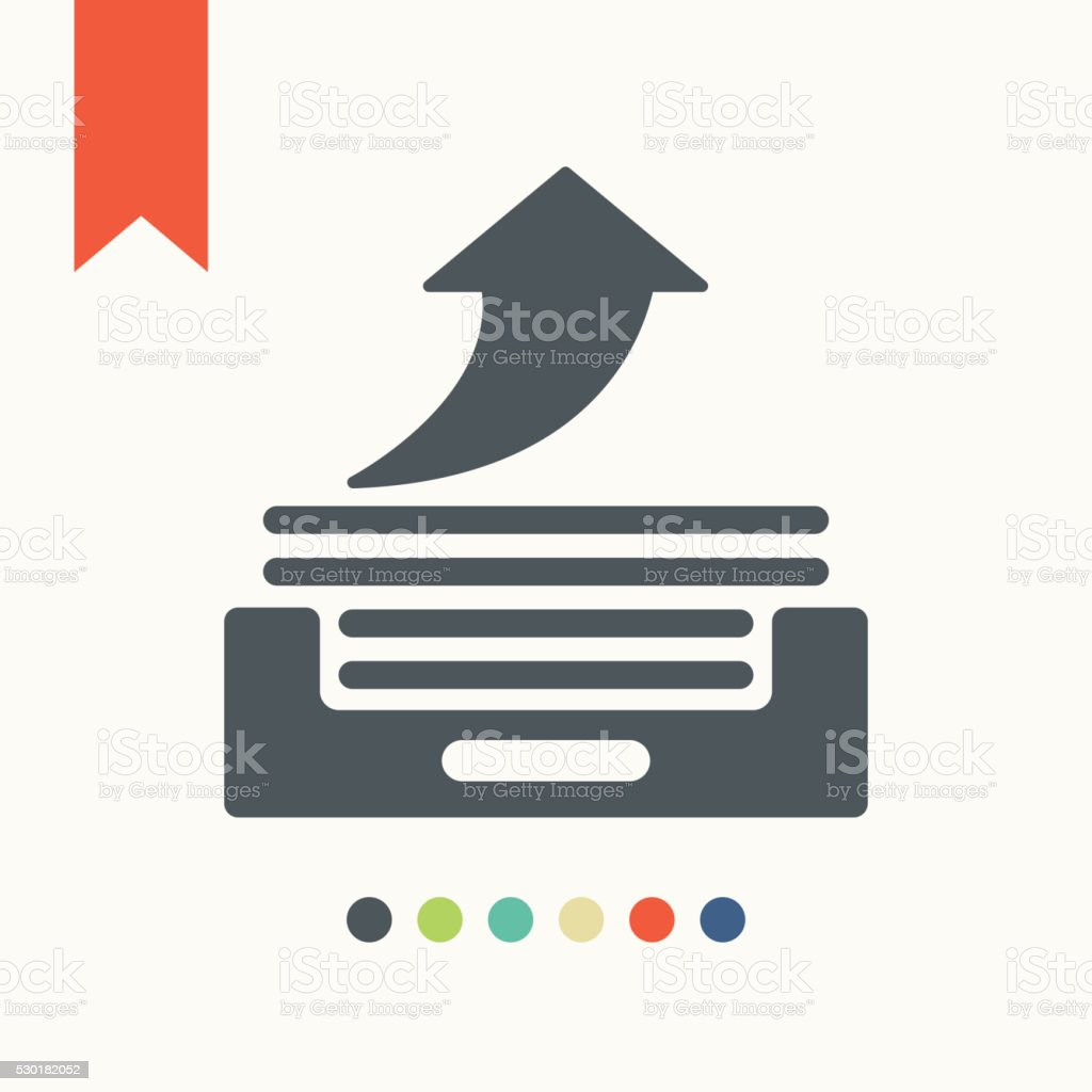 outbox icon vector art illustration