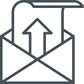 Outbox, sent mail icon