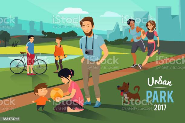 Outdoor activities in urban park happy family with kid runners couple vector id685470246?b=1&k=6&m=685470246&s=612x612&h=xhre6uvkdwv5zs1i3ojfzoobfnufbqdr1utrqd3pruc=