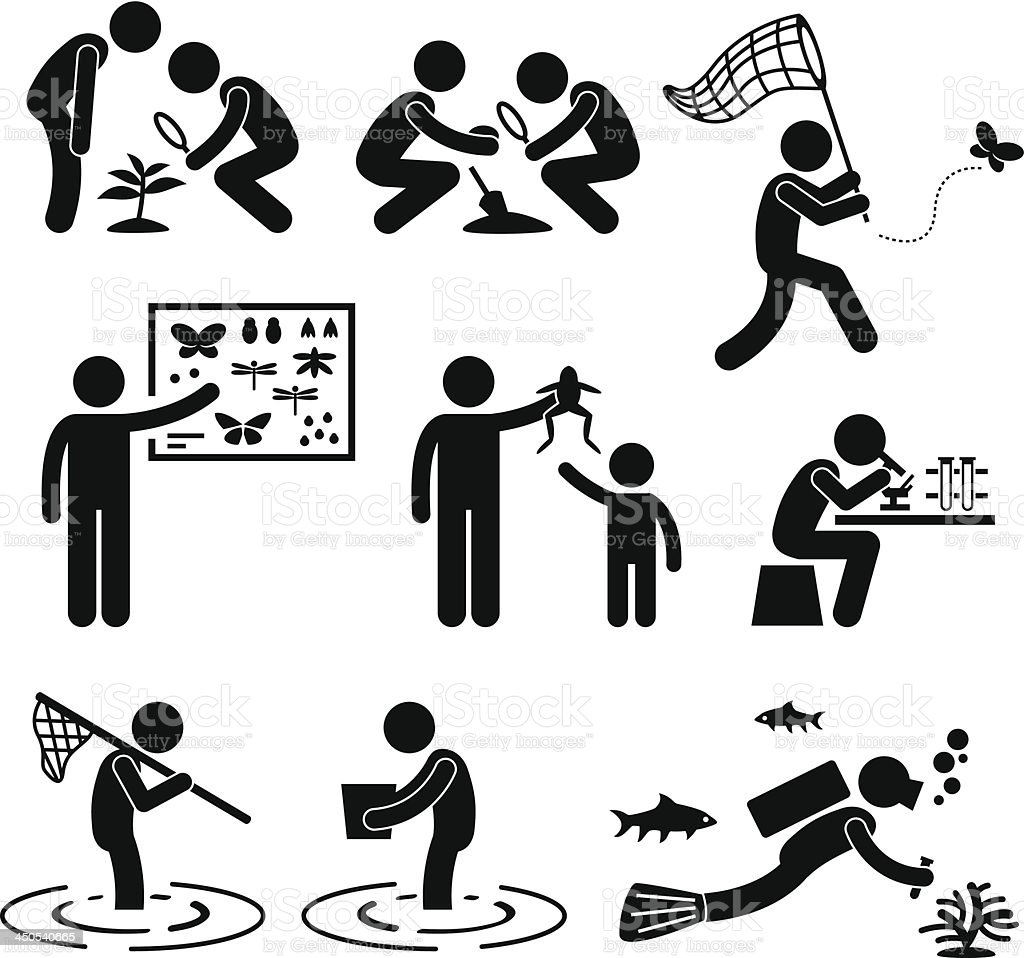 Outdoor Activity Geologist Research Pictogram vector art illustration