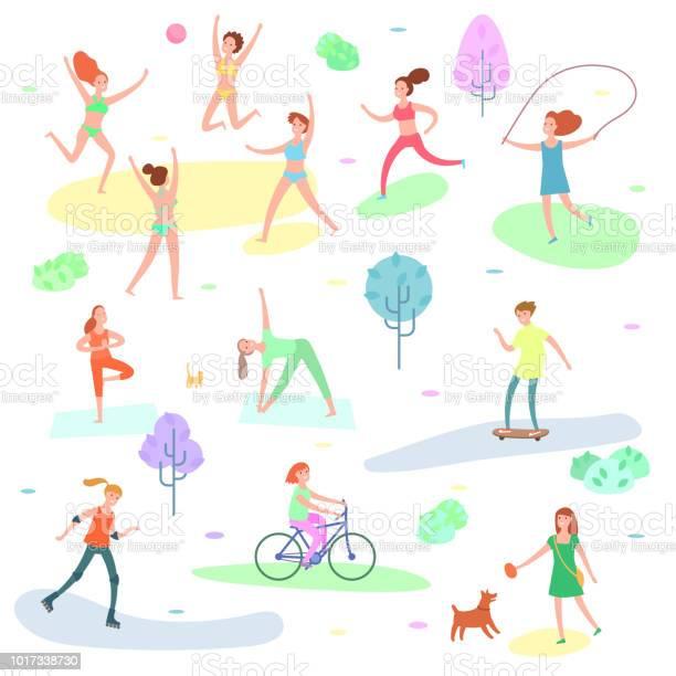 Outdoor activity illustration sport running people yoga in park vector id1017338730?b=1&k=6&m=1017338730&s=612x612&h=fpdi1mzkqdpgpoda4wfegrnck6jwpca9ut1ffhoevga=