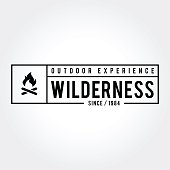 an amazing Outdoor Adventure Retro Emblem like mountain, wilderness, camping, family and more