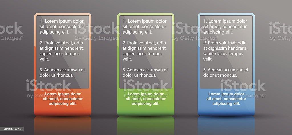 Outdoor advertising citylight. Transparent lightbox. Vector design template royalty-free stock vector art