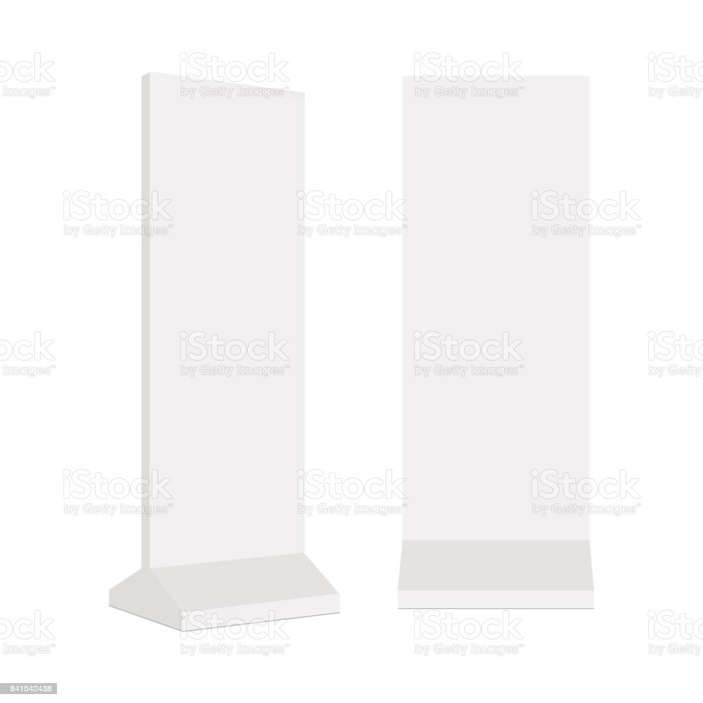 Outdoor advertising POS POI stand banner or lightbox. Vector mock up template ready for your design vector art illustration