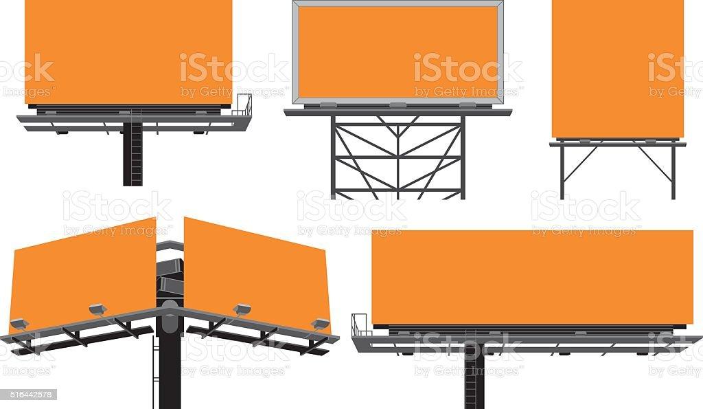 constructions billboards'extérieure. - Illustration vectorielle