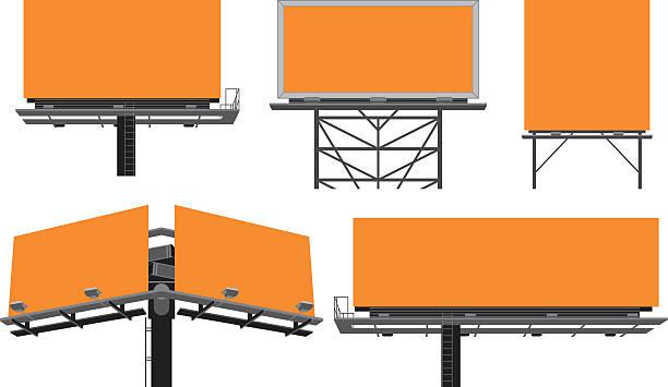 Outdoor billboards' constructions. vector art illustration